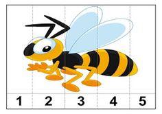 Haur Hezkuntzarako Jarduerak: UDABERRIKO PUZZLEAK 3-4 urtekoentzat Letter B Activities, Insect Activities, Montessori Activities, Insects For Kids, Bugs And Insects, Preschool Bug Theme, Preschool Crafts, Insect Crafts, Bee Crafts