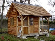 The Shed - a dream wooden cabin in Wales Shed Cabin, Tiny House Cabin, Ideas De Cabina, Timber Cabin, Outdoor Buildings, Cabin In The Woods, Backyard Sheds, Garden Sheds, Wood Shed