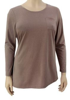 Brand Ladies Evans Plus Size Brown Cotton Blouse Top Sizes 14 - Size 14, Plus Size, Evans, Cotton Blouses, Pocket Detail, Lady, 30th, Online Price, Brand New