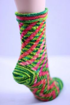 My hand knit Concoction Socks pattern. I'm so proud of the bold color and clever construction of these hand knit socks.