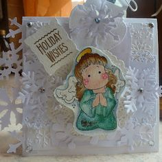 crumbs of joy: Christmas card in white