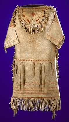 NLaka'pamux Dress, acquired 1915; skin, glass beads, paint, sinew, cotton - Canadian Museum of Civilization