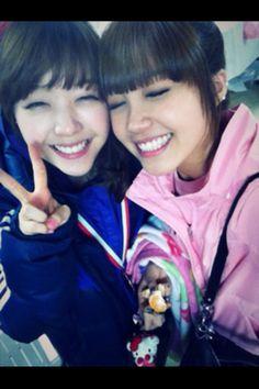 Girls day Minah and Apink Eunji