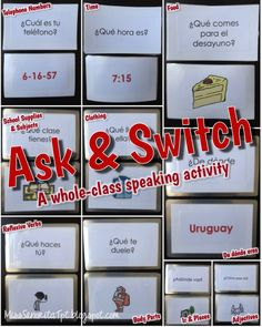A whole class speaking activity to get students up out of their seats asking and answering a variety of questions!