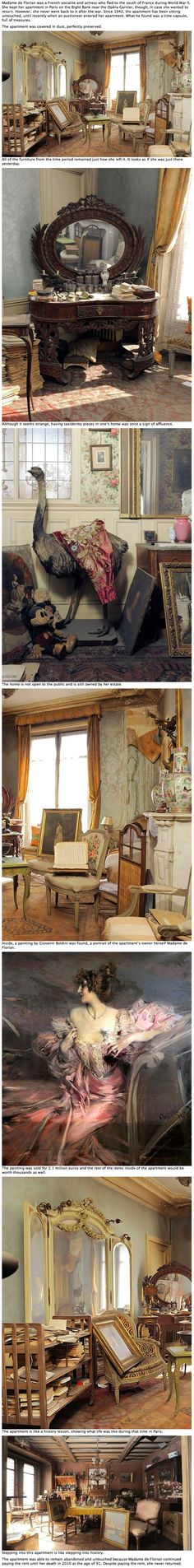 A rich woman abandoned this apartment in 1942. What they just found inside is incredible.