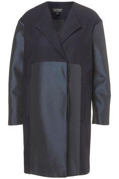 contrast wool coat