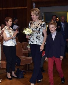 Queen Mathilde and Prince Emmanuel of Belgium Attends The Sessions of the 2017 Queen Elisabeth Cello Competition in Brussels, Belgium on May 16, 2017