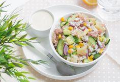 Sałatka ryżowa z tuńczykiem i awokado #intermarche #sałatka #tuńczyk