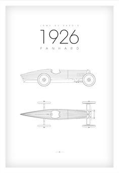 affiche 40X60 - panhard lame de rasoir 1926
