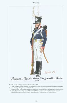 Prussia: Plate 59. Foot Guard Regiment, Grenadier, Full Dress, 1812