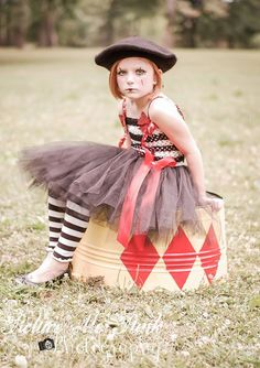 Parisian Circus Mime Tutu Dress .... Girl by LittlePinkArmoire, $75.00