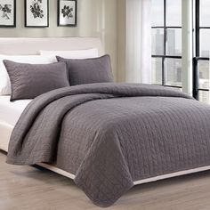 Shop for EverRouge Madrid 100-percent Cotton Pre-Washed 3-piece Bedspread Set…