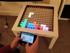 Elektroniken Bluetooth controlled Arduino LED coffee table The Right Carpet For Your Home Walk into Led Arduino, Bluetooth Arduino, Esp8266 Arduino, Arduino Programming, Bluetooth Gadgets, Arduino Book, Arduino Sensors, Tech Gadgets, Rustic Coffee Tables