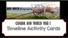 Print as is and use for a bulletin board or copier smaller and use them as a sorting activity for students! Contains significant dates relating to Canada's involvement in World War Teacher Pay Teachers, Teacher Resources, Sorting Activities, Red River, Teacher Newsletter, Bulletin Board, Timeline, World War, Dates