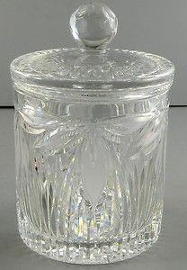 Cut Crystal Biscuit Barrel Vintage Cookie Candy Jar
