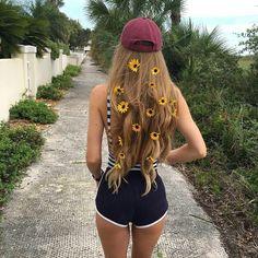 Sunflower hairclips #hair #beauty #sunflower