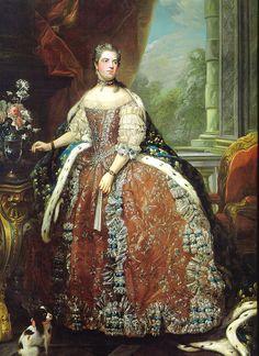 Portrait of Louise Élisabeth de France, (1727-1759) Duchess of Parma by Louis-Michel Van Loo.