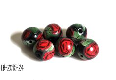 Handmade Polymer Clay Beads, Polymer Clay Beads for Sale, Jewelry Making Supplies, Flower Beads