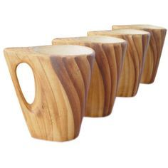Faux Bois Ceramic Mugs, Vallauris (via @1stdibs)