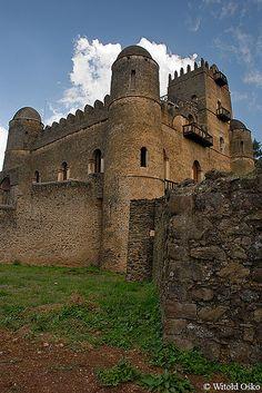 Emperor Fasiladas' palace in the Royal Enclosure, Gonder, Ethiopia by witoldosko, via Flickr