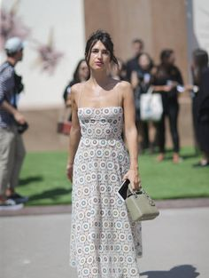 Jeanne Damas attends the Christian Dior Haute Couture Fall/Winter 20172018 show as part of Haute Couture Paris Fashion Week on July 3 2017 in Paris...
