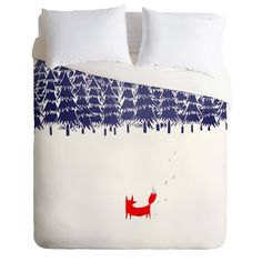 Robert Farkas Alone In The Forest Duvet Cover | DENY Designs Home Accessories