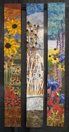 Three season garden quilt seen at the Long Beach International Quilt Festival 2012