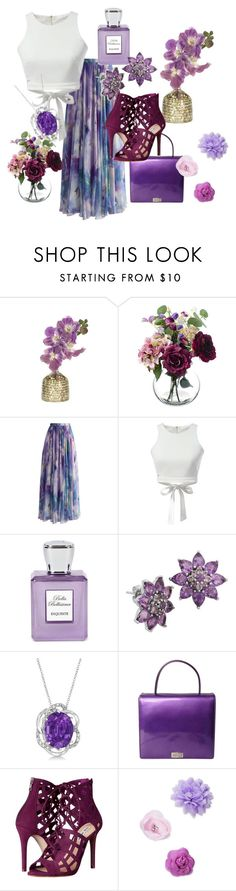 """Floral Purple"" by kamrin4 ❤ liked on Polyvore featuring NDI, Chicwish, WithChic, Bella Bellissima, Lord & Taylor, Allurez, ESCADA, Steve Madden, Josette and floral"