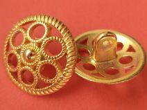 8 Metallknöpfe gold 18mm (4868-10x) Knöpfe Metall
