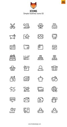 This is line icons vector icons. Simple and cute line icons collection is ready to use in your web and mobile projects.