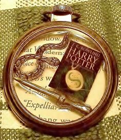 Harry Potter and the Deathly Hallows Pocket Watch Themed Pendant
