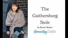 The Gaithersburg Stole - YouTube Crochet Shawls And Wraps, Crochet Scarves, Crochet Clothes, Learn To Crochet, Diy Crochet, Crochet Things, Boho Crochet Patterns, Manga, Stitch