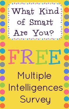 Multiple Intelligences Survey for elementary aged kids.