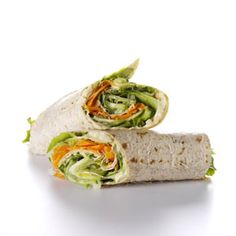 Hummus-Veggie Wraps #healthy #veggies #recipe