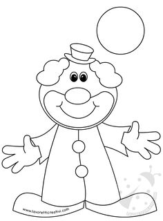 Colouring Pages, Coloring Sheets, Coloring Books, Clown Crafts, Sunday School Coloring Pages, Paint Cookies, Quiet Book Patterns, Circus Theme, Clowns