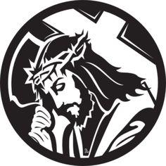 Jesus Carrying The Cross clip art - vector clip art online, royalty free & public domain