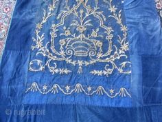 ANTIQUE TURKISH METALLIC HAND EMBROIDERED size:175x117-cm / 68.8x46.0-inches Please ask about this