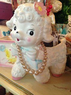 Vintage lamb vase.... @ TheVintageBee