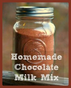 Homemade Chocolate Milk Mix - try for homemade hot coco? add collagen powder. Cinnamon?