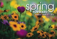 Spring Forward, it's daylight savings time! I love the extra daylight and promise of spring....