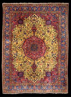 Tabriz Rugs: Antique Tabriz Carpet C. 1920 Lot 1063