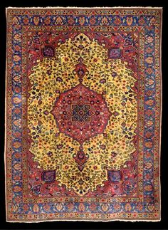 Tabriz Rugs: Antique Tabriz Carpet C. 1920 Lot 1063