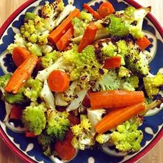 """Roasted Carrots and Cauliflower with Thyme 