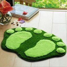 Cartoon Feet Printing Anti-Slip Floor Mat Non-slip Doormat Rugs
