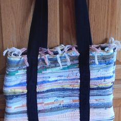 Rag rug bags Bohemian bags rug bags beach by secondchancepenny, $25.00