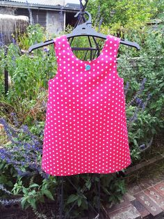 Little girl pink polka dot sun dress, Pink toddler girl sleeveless summer dress. $38.00, via Etsy.