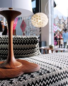 Graphic Missoni zig zags in the front window of Spence  Lyda in Surry Hills. Photograph by Dijana Kumurdian.