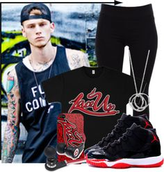 """MGK!~ my current crush..."" by reese123 ❤ liked on Polyvore"