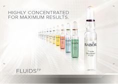 Give your skin a boost with BABOR ampoules which contain highly dosed active ingredients that are tailored to suit every skin type and condition. Fluids work fast and effectively thanks to their special consistency, which enables them to be optimally absorbed by the skin. https://uk.babor.com/products/fluids-fp/srn.html