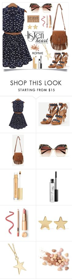 """Brunch style, romwe!"" by samra-bv ❤ liked on Polyvore featuring Krewe, Kevyn Aucoin, MAC Cosmetics, Jennifer Meyer Jewelry, Catbird, Too Faced Cosmetics, polyvorecontest and brunchgoals"